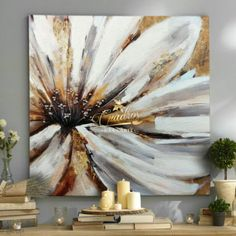 White Petals Flowers – Decorative Oil Paintings – Pedro Jose – Join the world of pin Flower Canvas, Flower Art, Acrylic Painting Inspiration, Abstract Flowers, Oil Painting Flowers, Found Art, Arte Floral, Canvas Wall Art, Cool Art