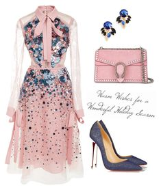 """""""№118"""" by annanikolova ❤ liked on Polyvore featuring Elie Saab, Marni, Christian Louboutin and Gucci"""