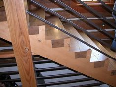 Giant dovetailed stairs