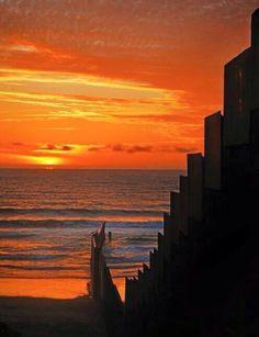 La mejor puesta de Sol en Tijuana.