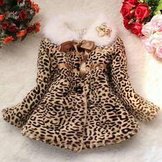 SKU: NTR04TVFTG02V6 Color: LEOPARD Size: 80, 100, 110, 120 Category: Kids > Girls' Clothing > Jackets & Coats Price: US… #Vivoren #Fashion