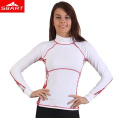 e20eb215344f SBART Rashguard Swim Shirts Women Lycra Surf Top Long Sleeve Swimsuit  Swimming Surfing Wetsuit Woman Diving Shirt Upf50 UV J913-in Rash Guard  from Sports ...