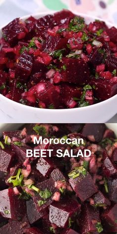 Moroccan Beet Salad - Loaded with nutrients and full of flavor! Loaded with nutrients and full of flavor! Mexican Food Recipes, Vegetarian Recipes, Cooking Recipes, Healthy Recipes, Moroccan Food Recipes, Beet Recipes Healthy, Healthy Broccoli Salad, Broccoli Cauliflower, Spinach Salad
