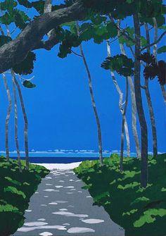 Masayasu Uchida t Landscape Art, Landscape Paintings, Guache, Art Et Illustration, Japanese Artists, Asian Art, Art Inspo, Cool Art, Concept Art