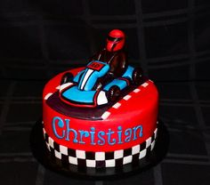 Go-Kart Cake  Cake by CuteologyCakes