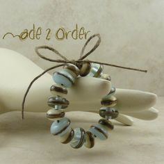 Made 2 Order  Robins Nest Lampwork Bead Set  Pale by Dragynsfyre (Craft Supplies & Tools, Jewelry & Beading Supplies, Beads, handmade, blue, silvered ivory, transparent, robin, natural, organic, dragynsfyre, opaque, beach glass, sand sandy)