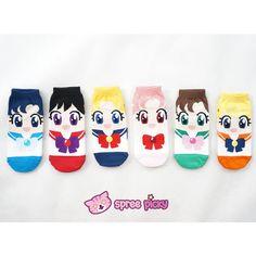 6 Colors Sailor Moon Series Cotton Socks SP151896