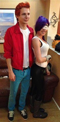 fry and leela costumes. @Zach Holt  Zaaaaaaaaaaaaach, we should do this for Halloween. Pwetty pwease