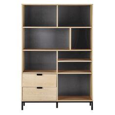 Bibliothèque en bois L 121 cm
