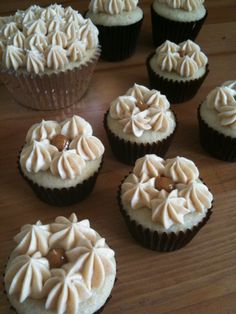 Vanilla Bean Cupcakes filled with Dulce de Leche