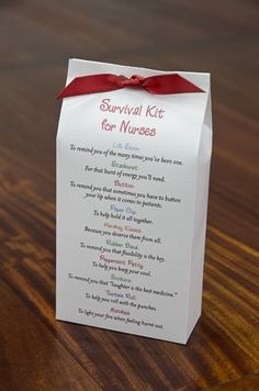 Survival Kit for Nurses  Printable PDF by pixiedustgifts on Etsy, $4.50