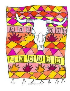Georgia O& Cows Skull Art Game for Kids (Emergency Su Art Sub Plans, Art Lesson Plans, Projects For Kids, Art Projects, Project Ideas, Game Art, Art Games For Kids, Cow Skull Art, Georgia O'keeffe