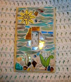 Sunny Spring Day Mosaic Switch Plate Gifts Under 20 by zzbob