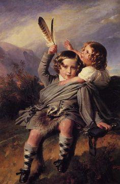Prince Alfred and Princess Helena by Franz Xavier Winterhalter