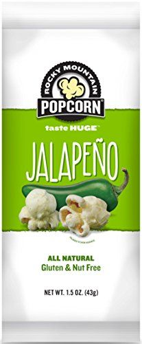 Rocky Mountain Popcorn 3 oz Jalapeno Popcorn ** Check out this great product. (This is an affiliate link) Savory Snacks, Healthy Treats, Jalapeno Popcorn, Gourmet Recipes, Snack Recipes, White Cheddar Cheese, Taste Made, Specialty Appliances, Nut Free