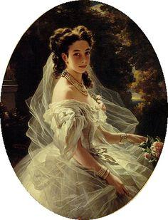"""Portrait of Princess Pauline de Metternich (1860)"" by artist Franz Xaver Winterhalter (1805-1873)."