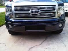Ford F-150 with Black Bumper Billet Grille by GenX Trims