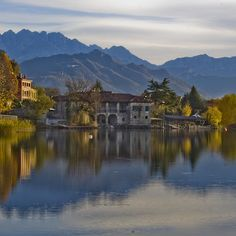 Reflection on Lake of Pusiano - Brianza - Italy
