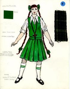 Costume Renderings Page 7 - Broadway Design Exchange Costume Design, Broadway, Sketches, Costumes, Prints, Collection, Drawings, Apparel Design, Dress Up Clothes