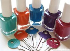 Nail polish is a great way to mark which key is which.