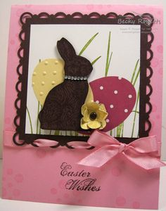 NO FAT chocolate for Easter.  Becky Roberts is an amazing paper designer!