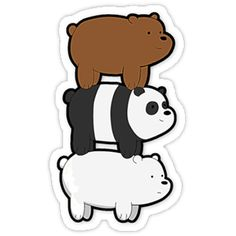 We Bare Bears by coinho Stickers Cool, Stickers Kawaii, Cartoon Stickers, Tumblr Stickers, Phone Stickers, Printable Stickers, Planner Stickers, We Bare Bears, Aesthetic Stickers