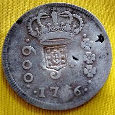 BRASIL 1756. R6. 600 REIS - C  ESCUDO MOEDA DE PRATA. BC ae1041d269f93