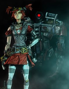 Gaige the Mechromancer from Borderlands 2