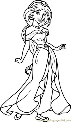 Disney Princess Coloring Pages Jasmine From The Thousand