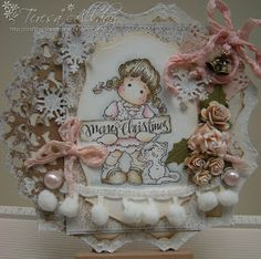 Christmas Tilda with cat, Little Christmas Collection 2012, Magnolia stamps