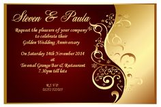 10 Personalised Anniversay Invitations Thank You Cards Ruby Silver Gold Vintage