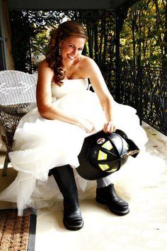 firefighter cakes | Firefighter Wedding