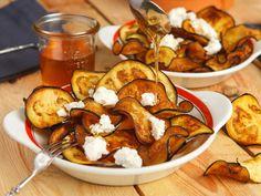 Auberginen-Chips zum Dippen