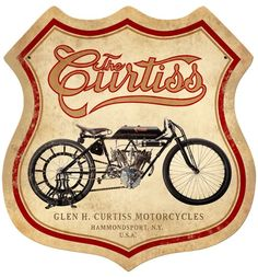 Curtiss Metal Sign