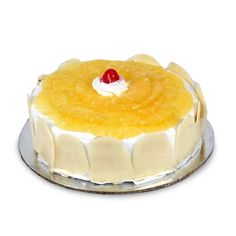 send birthday gifts online in Delhi - Fresh pineapple cake.