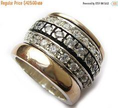 Valentines Day Spinner ring for women gold spinner by Bluenoemi