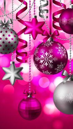 Jenstaromakeup: Christmas gift guide: under Pink Christmas Ornaments, Pink Christmas Decorations, Christmas Balls, Christmas Holidays, Silver Christmas, Pink Decorations, Merry Christmas Wallpaper, Winter Wallpaper, Holiday Wallpaper