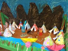 indianenkamp kleuters Diy For Kids, Cool Kids, Indian Diy, Indian Desert, Wild West Cowboys, Cowboys And Indians, Westerns, Paper Crafts, 3d