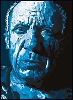 Pablo Picasso digital collectors print