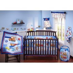 Disney Baby - Cars Junior Junction 4-Piece Crib Bedding Set review at Kaboodle