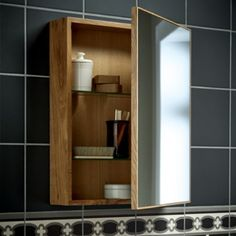 Tidy away those toiletry essentials with these practical and clean lined cabinets. Never again will you be faced with a half squeezed tube of toothpaste or dribbly shampoo bottle! Bathroom Wall Cabinets, Mirror Cabinets, Bathroom Medicine Cabinet, Washroom, Bathroom Inspo, Bathroom Ideas, Tiny Apartments, Amazing Bathrooms, Wall Tiles