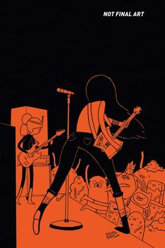 """fantagraphics:    Homage to Jaime Hernandez's iconic Love and Rockets #24 cover by James Hindle for issue 5 of Adventure Time: Marceline and the Scream Queens from Boom! Studios (via ComicsAlliance).    Adventure Time and The Regular Show are both now in heavy rotation on the UK's Cartoon Network, so my parenting strategy this holidays has been """"Yeah, watch TV all day, fine, go on, no, in fact I actually insist."""""""