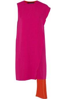 Gucci Two-tone silk wrap dress   NET-A-PORTER