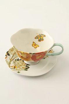 Watercolor Petals Cup & Saucer