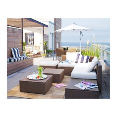ARHOLMA Table/stool IKEA By combining different seating sections you can create a sofa in a shape and size that perfectly suits your deck or...