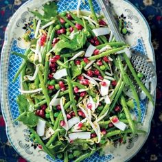 Green-bean--pea--pomegranate-and-fresh-coconut-salad-1160x1010px Pomegranate, Green Beans, Salads, Coconut, Fresh, Vegetables, Recipes, Food, Grenada