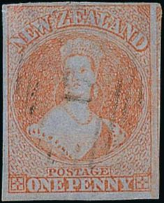 Spink UK / The 'Pegasus' Collection of Important Classic New Zealand - / The Chalon Issues / Lot The Chalon Issues Printed by J. Richardson in Auckland on Blue Paper Postage Stamp Art, Queen Victoria, Auckland, Vintage World Maps, Mad, The Past, Coins, Bottles, Auction