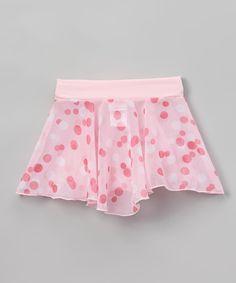 Basic Moves Pink Dot Skirt - Toddler & Girls by Basic Moves #zulily #zulilyfinds