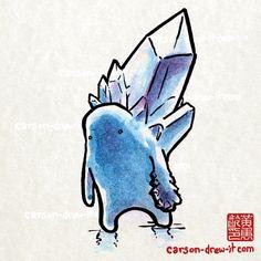 Cute stylised Crystal Golem.