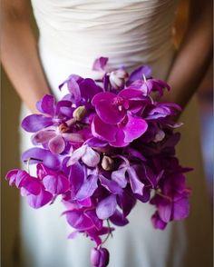 Purple Orchid bridal bouquet